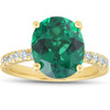 Emerald & Diamond 3/8 ct Ring 14k Yellow Gold (G/H, VS)
