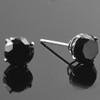 2 1/2ct Black Diamond Studs Womens Earrings 14K White Gold (Black, VS)