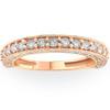 1/2ct Vintage Diamond Rose Gold Wedding Ring 14K (G/H, I2)