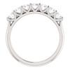 1/2 Ct Seven Stone Diamond Wedding Ring Lab Grown 14k White Gold (((G-H)), I)