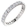 1 Ct Diamond Wedding Eternity Ring 14k White Gold (H/I, I1-I2)