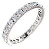 1 Ct Diamond Wedding Eternity Ring Lab Grown 14k White Gold (((G-H)), SI(2)-I(1))