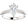 1 Ct Pear Shape Diamond IGI Certified Engagement Ring Lab Grown 14k White Gold ((E), SI(1))