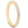 1 Ct Diamond Wedding Eternity Ring Lab Grown 14k Yellow Gold (((G-H)), SI(2)-I(1))