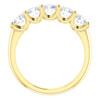 1 1/2 Ct Diamond Five Stone Wedding Ring 14k Yellow Gold EX3 Lab Grown (((G-H)), SI(1)-SI(2))