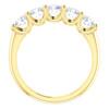 1 1/2 Ct Diamond Five Stone Wedding Ring 14k Yellow Gold EX3 Lab Grown (((G-H)), SI(1)-SI(2))