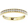 1/2 Ct Diamond Eternity Ring Womens Wedding Band 14k Yellow Gold EX3 Lab Grown (((G-H)), SI(2)-I(1))