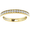 1/2 Ct Diamond Eternity Ring Womens Wedding Band 14k Yellow Gold EX3 Lab Grown (((G-H)), SI(2)-I(1))