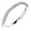 1/5 Ct Curved Diamond Guard Enhancer Wedding Ring 14k White Gold (H, I1-I2)