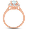 1 5/8 Ct Oval Lab Created Moissanite & Diamond Halo Engagement Ring Rose Gold (((G-H)), SI(1)-SI(2))