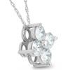1 Ct Diamond 4-Stone Pendant 14k White Gold EX3 Lab Grown Necklace (((G-H)), SI(1)-SI(2))
