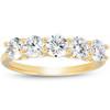 1 1/4 Ct Diamond Five Stone Wedding Ring 10k Yellow Gold U Prong (I/J, I2-I3)