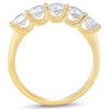 1 1/4 Ct Diamond Five Stone Wedding Ring 10k Yellow Gold U Prong (I/J, I2-I3)