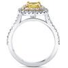 1 5/8Ct Diamond Fancy Yellow Cushion Engagement Ring 14k Gold SZ 7 (HI, SI)