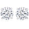 1 Ct TW Moissanite Studs Available in White or Yellow Gold (GH, VS)