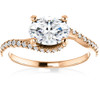 1 1/4 Ct Oval Diamond Engagement Ring 14k Rose Gold (H/I, SI1-SI2)