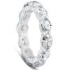 4 3/4 Ct Oval Diamond Eternity Ring 14k White Gold (I/J, SI1-SI2)