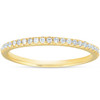 1/10CT Lab Grown Diamond Wedding Ring Womens Stackable Band 10k Yellow Gold (H/I, I1)