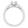 1 Ct Lab Grown Diamond Engagement Ring 14k White Gold (H-I,SI2-I1) ((H-I), SI(2)-I(1))