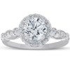 1 3/4 Ct Diamond Engagement Ring 14k White Gold Halo Enhanced (G/H, SI2)