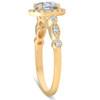 1 3/4 Ct Diamond Engagement Ring 14k Yellow Gold Halo Enhanced (H/I, SI2)