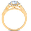 1 3/4 Ct Diamond Engagement Ring 14k Yellow Gold Halo Enhanced (H/I, SI2)