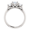 1 3/4 Ct Moissanite & Lab Grown Diamond 3 Stone Engagement Ring 10k White Gold (G/H, VS1-VS2)
