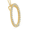 Yellow Gold 1/2ct Circle Of Life Lab Grown Diamond Pendant Necklace ((H-I), SI(2)-I(1))
