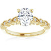 1 1/10 Ct Moissanite & Lab Grown Diamond Engagemeng Ring 10k Yellow Gold (G/H, VS1-VS2)