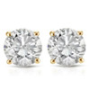 1 1/2 ct Round Diamond Stud Earrings in 14K Yellow Gold with Screw Backs (I-J, I1)