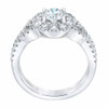 1 1/2 Ct Diamond Halo Intinity Cirss Cross Engagement Ring 10k White Gold (H/I, I1-I2)