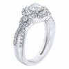 1 1/2 Ct Diamond Halo Intinity Cirss Cross Engagement Ring 10k White Gold (H/I, I1-I2)