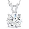 1 1/2 Ct Moissnite Solitaire Pendant 14k White Gold Womens Necklace