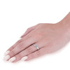 1 1/2 Ct Diamond & CZ Engagement Ring 14k White Gold (((G-H)), VS1-VS2)
