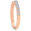 1/4 Ct Diamond Wedding Ring Curved Notch 14k Rose Gold (H/I, I1-I2)