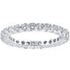 1 Ct Diamond Eternity Ring 10k White Gold Womens Wedding Band (G/H, I2-I3)