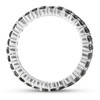 1 Ct Black Diamond Eternity Ring 14k White Gold (Black, I2-I3)