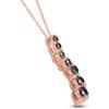 14K Pink Rose Gold 1/2ct Black Diamond Journey Pendant Necklace (Black, I2-I3)