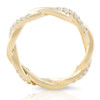 1/3 Ct Diamond Eternity Petite Twist Eternity Ring 10k Yellow Gold (G/H, I1-I2)