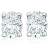 1.11Ct Certified Lab Grown Oval Diamond Studs 14k White Gold Earrings ((G), (SI2))