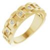 1/4 Ct Mens Diamond Wedding Ring Yellow Gold Chain Link Band (H, I1-I2)