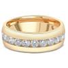 1 1/2 Ct Mens Lab Grown Diamond Wedding Ring Yellow Gold Anniversary Polish Band (((G-H)), SI(1)-SI(2))