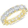 10 1/2 Ct Asscher Cut Moissanite Eternity Ring Wedding Band 10k Gold