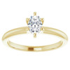 1/3Ct Oval Lab Grown Diamond Solitaire Engagement Ring 14k Yellow Gold (((G-H)), SI(1)-SI(2))