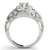 1 Ct Diamond Vintage Engagement Ring Lab Grown in 14k White Yellow or Rose Gold (((G-H)), SI(1)-SI(2))