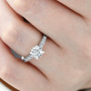 1 1/2 Ct Lab Grown Diamond Ring With Accents 14k White Gold (I/J, VS1-VS2)
