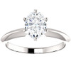 1 Ct Oval Solitaire Diamond Engagement Ring Lab Grown 14k White or Yellow Gold (H/I, VS1-VS2)
