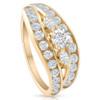 1 3/4 CT Diamond Contour Designer Engagement Ring 14k Yellow Gold (G/H, I1-I2)