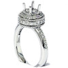 1/2ct Antique Diamond Ring Setting 14K White Gold (G/H, I2)