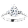 1 1/4Ct Pear Shape Lab Grown Diamond Engagement Ring White Yellow or Rose Gold (G/H, VS1-VS2)
